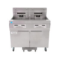 Frymaster 11814E 60 lb. High Production Electric Floor Fryer with CM3.5 Controls - 208V, 3 Phase, 17 kW