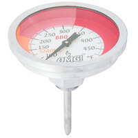 Taylor 814OMG 2 3/4 inch Replacement Outdoor Grill / Smoker Dial Thermometer with Stem