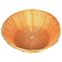 9 inch Round Plastic Natural Bread Basket - 12/Case
