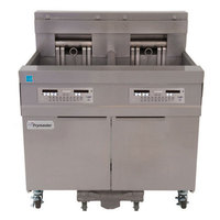 Frymaster 11814E 60 lb. High Production Electric Floor Fryer with SMART4U 3000 Controls - 208V, 3 Phase, 17 kW