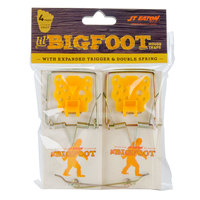 JT Eaton 406XT Little Bigfoot Wooden Mouse Snap Trap with Expanded Trigger - 4 / Pack
