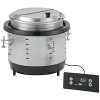 Vollrath 74701D Mirage 7 Qt. Silver Drop-In Induction Rethermalizer - 120V, 800W