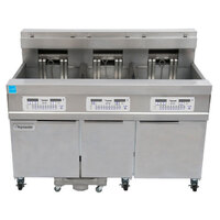Frymaster 11814E/RE17/11814E 170 lb. High Production Electric Floor Fryer with SMART4U 3000 Controls - 17 kW