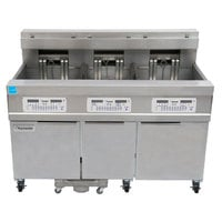 Frymaster 11814E/RE17/11814E 170 lb. High Production Electric Floor Fryer with CM3.5 Controls - 17 kW