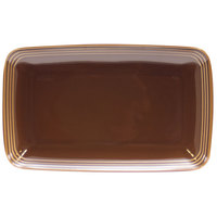 Homer Laughlin 10459392 Bosque Maple 11 1/4 inch X 6 3/4 inch Rectangle Dish - 12 / Case