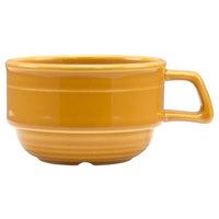 Homer Laughlin 13049518 Bosque Goldenrod 10.5 oz. Stackable Cup - 36/Case