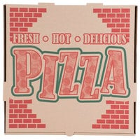 16 inch x 16 inch x 1 3/4 inch Kraft Corrugated Pizza Box - 50 / Case