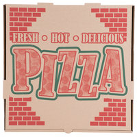16 inch x 16 inch x 1 3/4 inch Kraft Corrugated Pizza Box - 50/Case