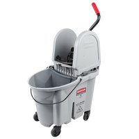 Rubbermaid Gray 1863899 35 Qt. Executive Series WaveBrake® Down Press Mop Bucket