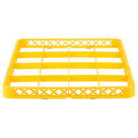 Noble Products 16-Compartment Yellow Full-Size Glass Rack Extender - 19 3/8 inch x 19 3/8 inch x 1 3/4 inch