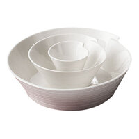 CAC SUS-B10 Sushi Signature 78 oz. New Bone White Porcelain Bowl - 12/Case
