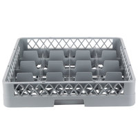 Noble Products 16-Compartment Gray Full-Size Glass Rack - 19 3/8 inch x 19 3/8 inch x 4 inch