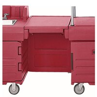 Cambro KMC24158 Hot Red CamKiosk Connector Unit with Front Panel