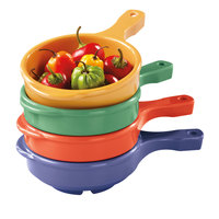 GET HSB-112-MIX Creative Table 12 oz. Bowl with Handle, Assorted Colors - 24 / Case