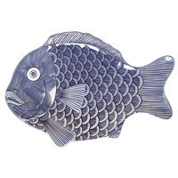 GET 370-12-BL Creative Table 12 inch x 8 1/4 inch Blue Fish Platter - 12 / Case