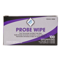 WipesPlus Probe Wipe Sachet, Thermometer Sanitizing Wipes - 10 Boxes (100 Ct.) / Case