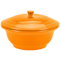 Homer Laughlin 495325 Fiesta Tangerine 2.18 Qt. Covered Casserole Dish - 2 Sets / Case