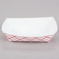 Southern Champion 405 #40 6 oz. Red Check Paper Food Tray - 250/Pack