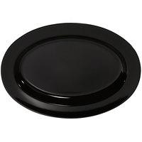 GET OP-621-BK Milano 21 inch x 15 inch Black Oval Platter - 12/Case