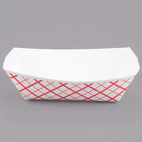 Southern Champion 409 #50 1/2 lb. Red Check Paper Food Tray - 250/Pack