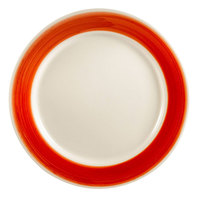CAC R-6-R Rainbow Dinner Plate 6 1/2 inch - Red - 36 / Case