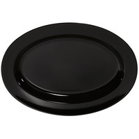 GET ML-14-BK Milano 17 inch x 12 inch Black Oval Platter - 6/Case