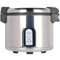 Town 57131 30 Cup Stainless Steel Electronic Rice Cooker / Warmer - 230V