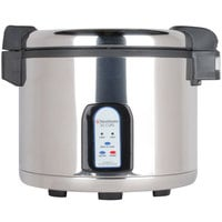 Town 57131 60 Cup (30 Cup Raw) Stainless Steel Electronic Rice Cooker / Warmer - 230V