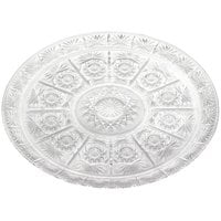 13 inch Crystal Round Plastic Catering Tray