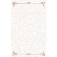 8 1/2 inch x 11 inch Tan Menu Paper - Scroll Border - 100/Pack