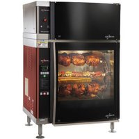 Alto-Shaam AR-7EVH-DBLPANE Double Pane Curved Glass Rotisserie Oven with 7 Spits and Ventless Hood - 208V, 3 Phase