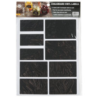 American Metalcraft CSR18 Rectangular Vinyl Chalkboard Labels - 18 / Pack