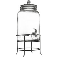 2.75 Gallon Montgomery Glass Beverage Dispenser with Metal Stand