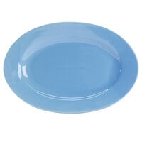 CAC FES-51-BL Festiware 15 inch X 10 1/2 inch Light Blue Platter - 12/Case