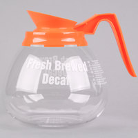 Grindmaster 98006 64 oz. Glass Coffee Decanter with Orange Decaf Handle - 3/Pack