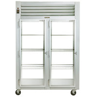 Traulsen G21015P 2 Section Glass Door Pass-Through Refrigerator - Left / Left Hinged Doors