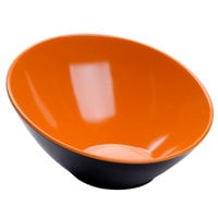 GET B-792-OR/BK Brasilia 24 oz. Orange and Black Melamine Bowl - 6/Case