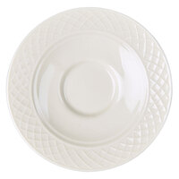 Homer Laughlin 8976900 Kensington 4 1/2 inch Bright White Saucer - 12/Case