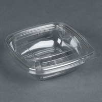 Sabert C15008TR250 Bowl2 8 oz. Clear PETE Square Tamper Evident Bowl with Lid - 250 / Case