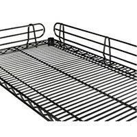 Regency 14 inch Black Epoxy Wire Shelf Ledge for Wire Shelving - 14 inchL x 4 inchH