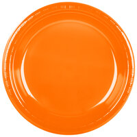 Creative Converting 28191031 10 inch Sunkissed Orange Plastic Banquet Plate - 240 / Case