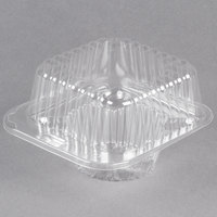 Polar Pak 2409 1 Compartment Clear Muffin Takeout Container - 100/Pack
