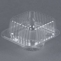 Par-Pak 2409 1 Compartment Clear Muffin Takeout Container - 100 / Pack