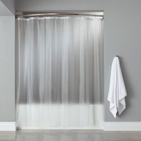 Hooked HBG08GA0972 Frost 8-Gauge Vinyl Basic Shower Curtain with Chrome-Plated Copper Grommets - 72 inch x 72 inch