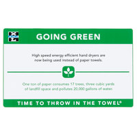 Excel 676 Going Green Sign for Hand Dryers