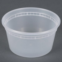 12 oz. Microwavable Translucent Plastic Deli Container - 48 / Pack
