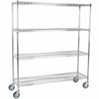 Regency 18 inch x 60 inch NSF Chrome Shelf Kit with 64 inch Posts and Casters