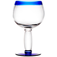 Libbey 92309 Aruba 16 oz. Round Cocktail Glass with Cobalt Blue Rim and Base - 12/Case