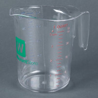 Choice 1 Quart Clear Polycarbonate Measuring Cup
