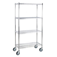Regency 18 inch x 36 inch NSF Chrome Shelf Kit with 64 inch Posts and Casters